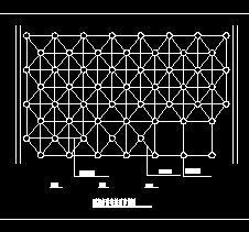 网架杆件安装节点图