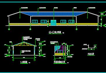 三角钢屋架结构设计施工图纸