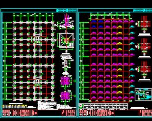 大型钢结构厂房结构施工图纸