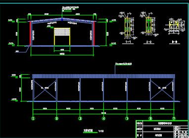 16跨钢结构仓库施工图纸