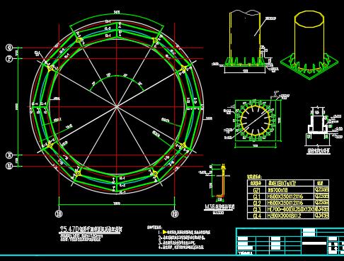 环形天桥钢结构设计详图