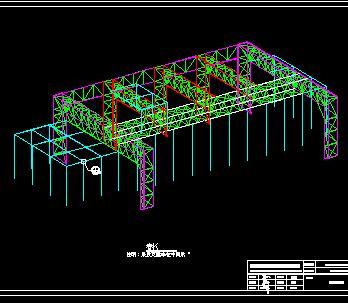 某冷却塔罩棚钢结构施工图纸