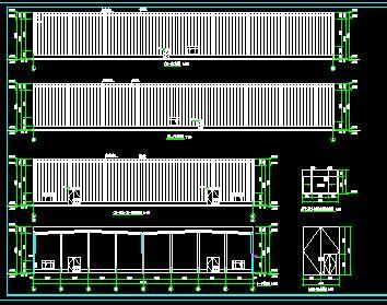 门式钢结构仓库全套施工图纸(建筑,结构,水电)