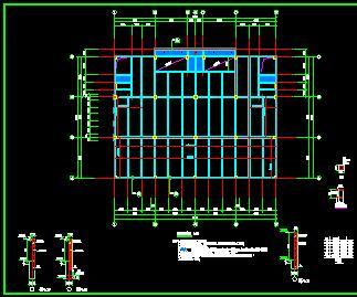 工业园5层车间结构施工图纸