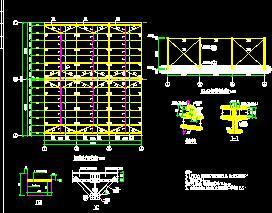 单层门式刚架结构车间结构施工图纸