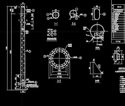 20米灯杆塔设计详图