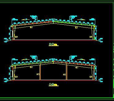 炼油化工厂钢结构厂房结构施工图纸