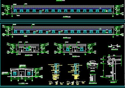 20米*96米标准钢结构车间施工图纸