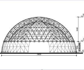 20米双层钢网壳结构施工图纸