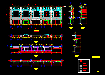 某商场外立面幕墙施工方案图