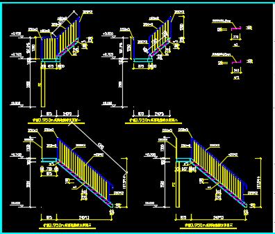 某钢厂烧结矿槽钢楼梯详图