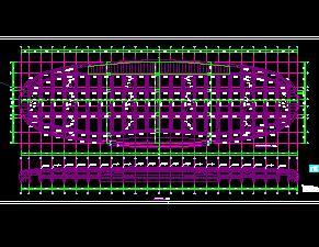某大型�框架�Y����展中心�Y��施工�D�(上)