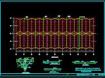 60mx24m门式钢架厂房设计图纸