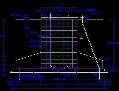 30米自动升降式高杆灯基础结构图