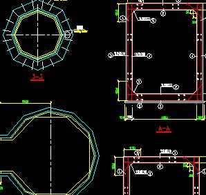 某120米混凝土烟囱结构设计图图片