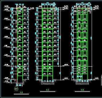 某外观光电梯结构设计图图片