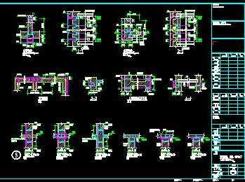 某新增构造柱,圈梁,拉杆大样图砖混墙体加固节点构造详图