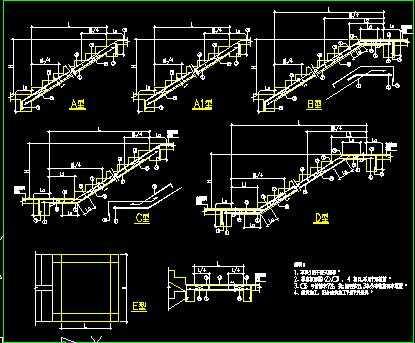 某工程结构楼梯表节点构造详图