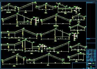 某坡屋顶住宅屋梁大样节点构造详图