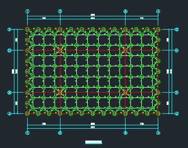 加气站螺栓球网架结构设计图