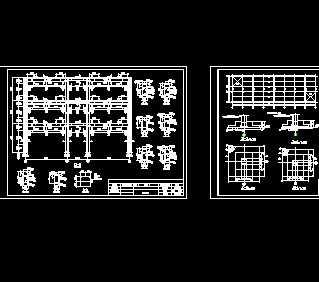 单榀框架结构教学楼施工图