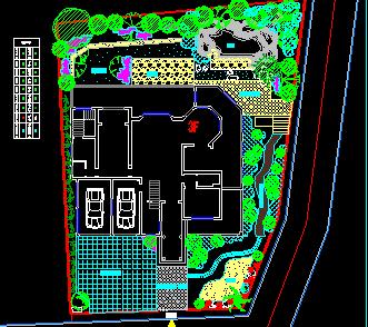 某别墅庭院景观设计平面图