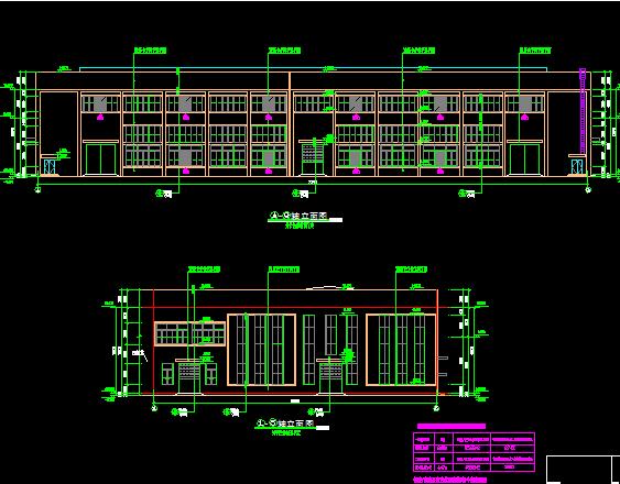 钱柜娱乐框架厂房施工图纸(含建筑结构、给排水)