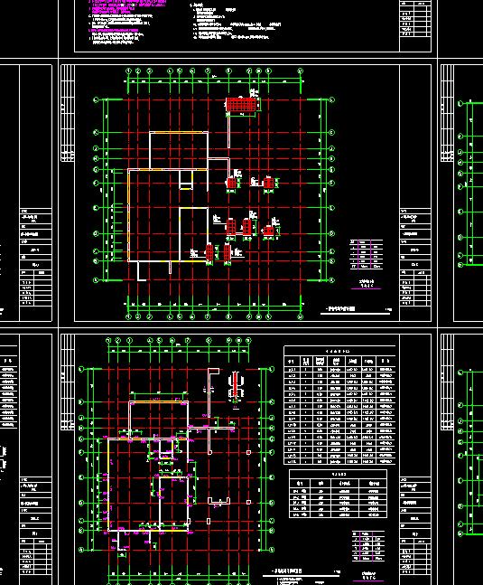 三层别墅结构施工图纸