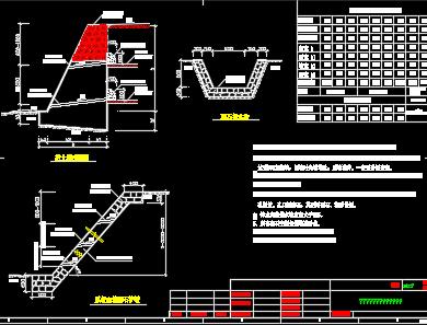 挡土墙、护坡及排水沟施工图