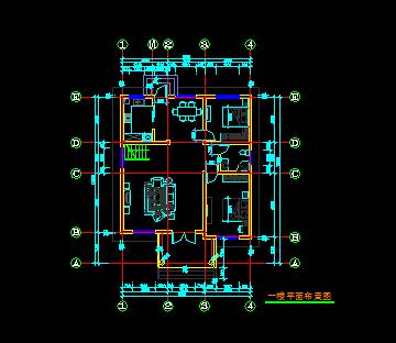 108平方米三层别墅混凝土结构施工图