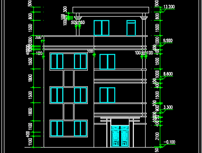 三层农村住宅结构施工图纸
