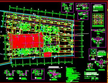 某商业中心项目结构设计图纸