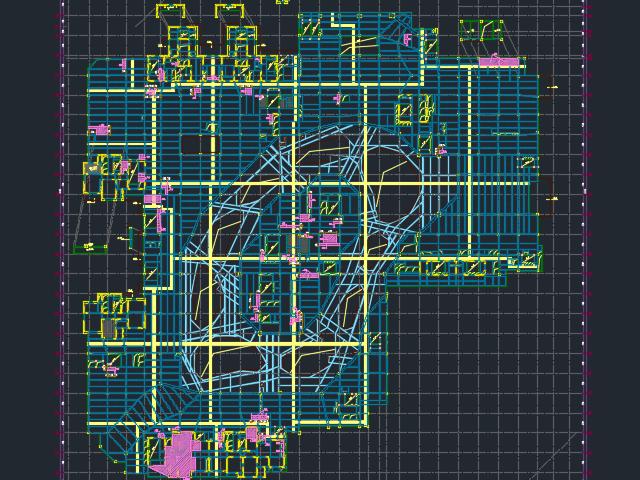 某商业楼结构加固设计图