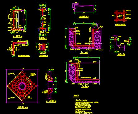 自来水厂建设工程2000T清水池结构设计图
