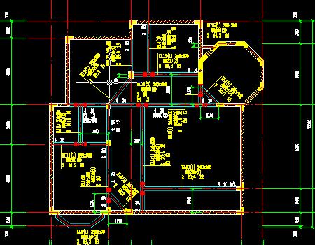 三层框架结构小别墅结构施工图(含阁楼)