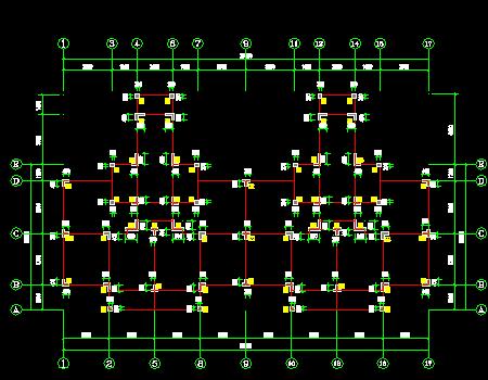 两栋7层异形柱框架结构安置房结构施工图