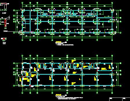 三层框架结构商业房结构施工图