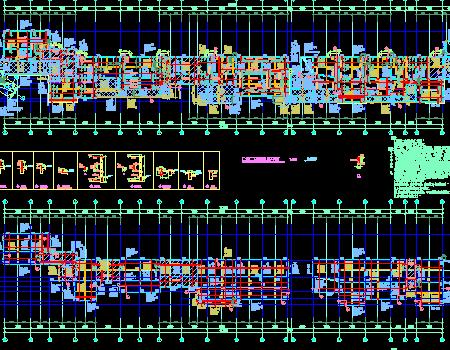 两栋地上二层框架结构商业楼结构施工图