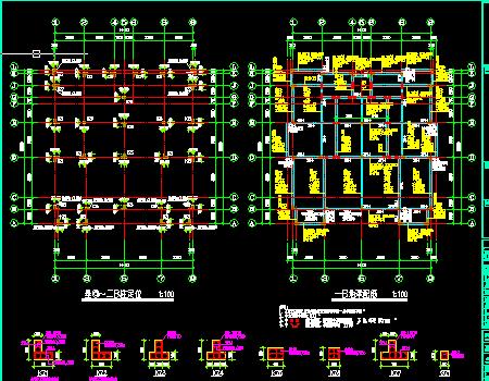 三层异形柱框架结构a型低层住