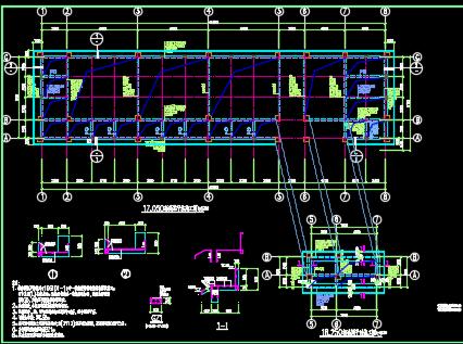 框架结构教学楼施工图纸