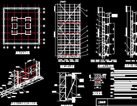 高层办公楼塔楼电动自生爬架施工方案图