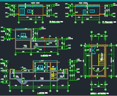工业厂房消防水池泵房施工图纸(含建筑结构水电暖)