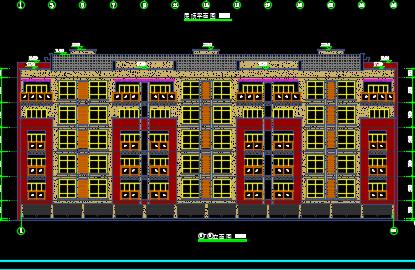 五层住宅楼建筑优乐娱乐图纸(包含建筑结构水电图)
