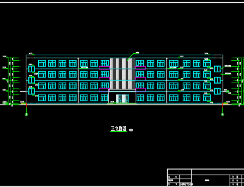 4层4500平米框架结构大学办公楼毕业设计(含计算书、图纸、PKPM模型)