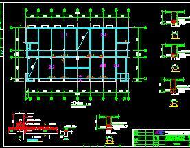 三层框架污水处理厂结构加固施工图