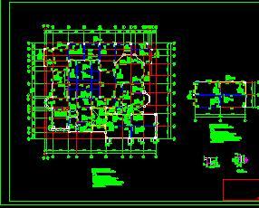 二层带夹层别墅结构、水电施工图纸