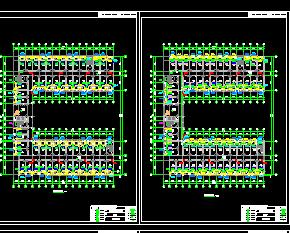 某7层框架宿舍楼结构及水电施工图纸