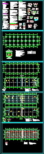 展示馆结构施工图纸