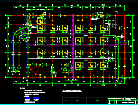 某地带地下室车库框架结构设计图纸