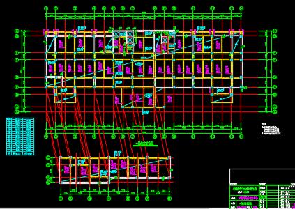 十二办公楼结构施工图纸